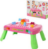 Игровой набор Полесье Molto с конструктором 20 элементов Розовый (58010)