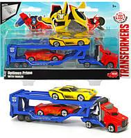 Автотранспортер металлический Dickie Toys Трансформер Оптимус Прайм с 2 машинками (3113012)