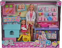 Кукольный набор Simba Штеффи и Эви. Ветеринарная клиника (5733040)