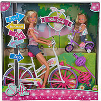 Кукольный набор Simba Штеффи и Эви. Прогулка на велосипедах (5733045)