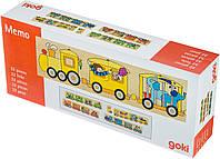 Пазл деревяннй Goki Цветной паровоз (56945)