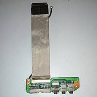 Плата USB, аудио выход Asus M50V, M50S