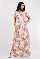 Женское платье в пол.Платье длинное в цветы