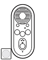 Лицевая панель дополнительный внутренний аудиоблока Legrand Celiane Белый (68207)