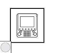 Лицевая панель дополнительный внутренний видеоблок Legrand Celiane Белый (68205)