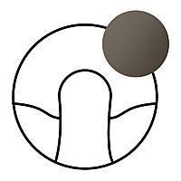 Лицевая панель кабельного вивода Legrand Celiane Графит (67941)