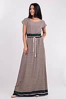 Женское длинное платье с принтом