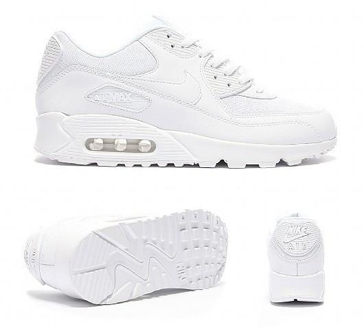 Nike Air Max 90 Premium White/Metallic Silver. Оригинальная спортивная обувь. Стильные кроссовки.