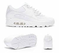 Nike Air Max 90 Premium White/Metallic Silver. Оригинальная спортивная обувь. Стильные кроссовки., фото 1