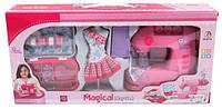 """Детский игровой набор игрушки для девочек """"Швейная машина"""" с набором для шитья 754ABC"""
