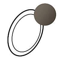 Лицевая панель светильника автономного Legrand Celiane Графит (67968)