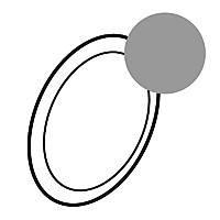 Лицевая панель светильника автономного Legrand Celiane Титан (68368)