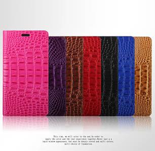 """Huawei Y635 оригинальный кожаный чехол кошелёк из натуральной телячьей кожи на телефон """"QL CROCO"""""""