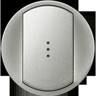 Переключатель на два направления с подсветкой одноклавишный Legrand Celiane Титан (696949)