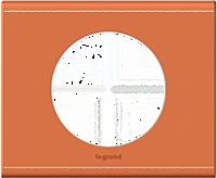 Рамка 1-постовая Legrand Celiane кожа/Крем-Карамель (69281)