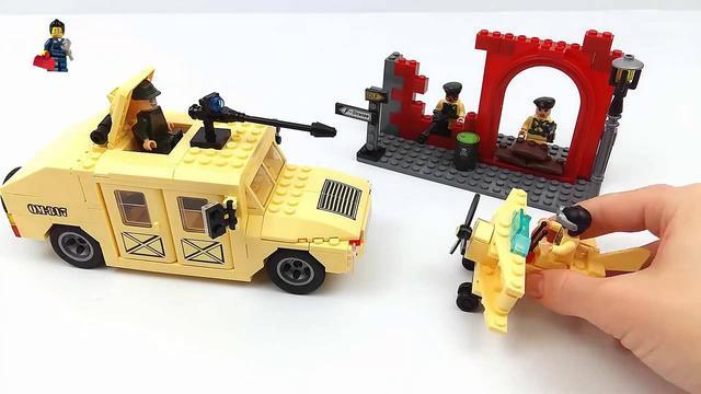 Детский конструктор военный Хаммер Brick 817