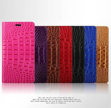 """Huawei ENJOY 7 Plus оригинальный кожаный чехол кошелёк из натуральной телячьей кожи на телефон """"QL CROCO"""""""
