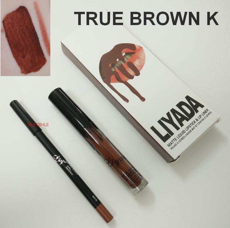 Набор Помада + карандаш для губ LIYADA матовая Суперстойкая! водостойкая блеск красная коричневая супер цена!