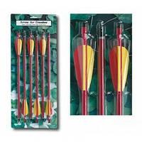 Набор алюминиевых стрел для арбалета AL14/6R.  Стрелы для стрельбы из арбалета 6 шт., алюминиевые.