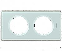 Рамка 2-постовая Legrand Celiane Смальта/Белая Глина (69312)