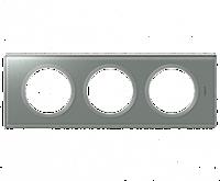 Рамка 3-постовая Legrand Celiane Смальта Металлик (69343)