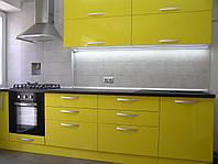 Кухня из МДФ желтая