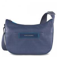 Наплечная оригинальная женская сумка с чехлом для iPad mini Piquadro AKI/N.Blue, BD3291AK_BLU2 синий