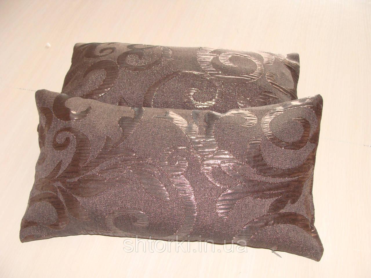 Комплект подушек коричневые завитки, 2шт 20х40см