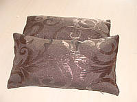 Комплект подушек коричневые завитки, 2шт 20х40см, фото 1