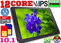 Игровой планшет телефон, 12 ядер, 10.1'', GPS, 3G,2 sim, Android6, батарея 7000