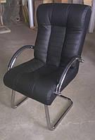 """Кресло """"Атлантик"""" на полозьях черный"""