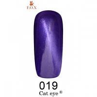 Фиолетовый гель-лак F.O.X Cat Eye 019 (12 мл)