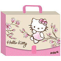 "Папка-портфель ""Kite"" HK17-209 А4 пласт. Hello Kitty"