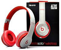 Беспроводные наушники Monster Beats Solo 2 by Dr.Dre Grey Red STN-19