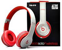 Беспроводные наушники Monster Beats Solo 2 by Dr.Dre Grey Red STN-19