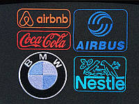 Логотипы BMW, Coca - Cola.