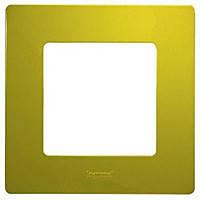 Рамка 1-постовая Legrand Etika Зеленый Папоротник (672541)