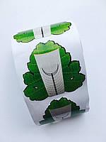"""Формы для наращивания ногтей """"Зеленый листок"""", 100 шт."""