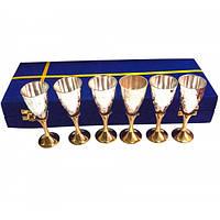 Набор бокалов бронзовых посеребренных