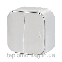 Выключатель 2-клавишный 10A Legrand Forix Белый (782402)
