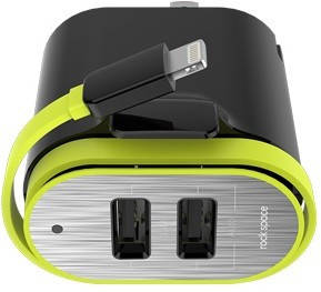 СЗУ Rock Spase Sotor Dual Port Travel Charger ligting 3.4A