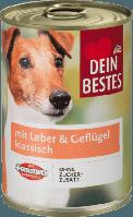Консерва с мясом домашней птицы и печени для собак   Nassfutter für Hunde mit Geflügel & Leber  400