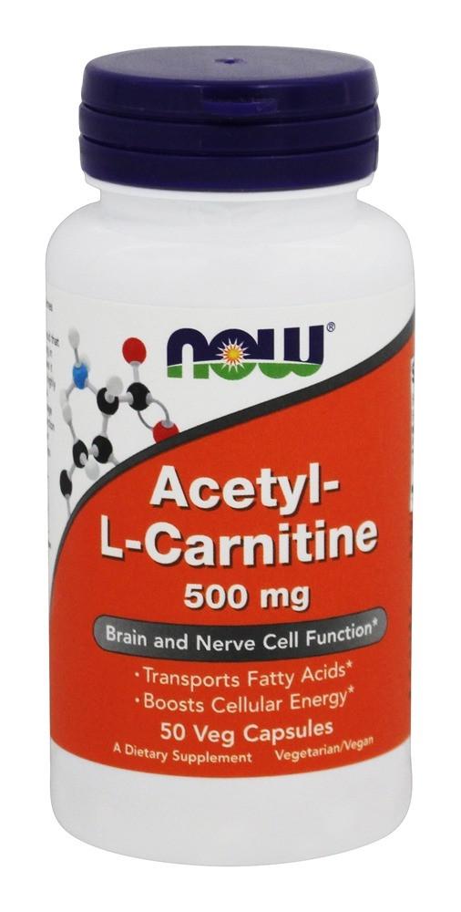 NOW - Acetyl L-Carnitine 500mg (50 caps) \ Ацетил-L-карнітин