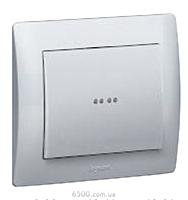 Выключатель 1-клавишный (с подсветкой) 250В 10АХ Legrand Galea Life (775600)