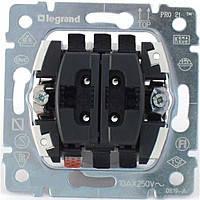 Выключатель 2-клавишный 10А 250В для рольставней (без фиксации) Legrand Galea (775814)