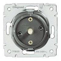 Выключатель 2-полюсный поворотный 20А 250В для рольставней Legrand Galea Life (775853)