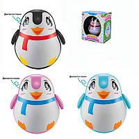 Неваляшка пингвин 6613ABC,звук, 3 цвета, в кор-ке, 17,5-15,5-11,5см