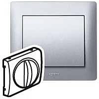 Лицевая панель выключатель/переключатель механизмов управления вентиляцией Legrand Galea Life Алюминий (771357)