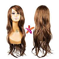 Парик с длинными светло-коричневыми искусственными волосами