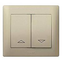Лицевая панель выключателя управления рольставнями (арт.775804/14) 2-клавишного Legrand Galea Life Титан (771414)